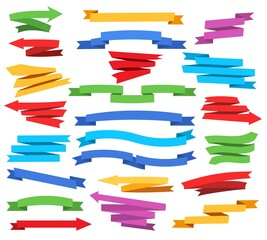 Colorful ribbons and pointers