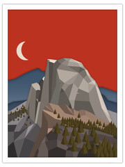 dome mountain | postcard template