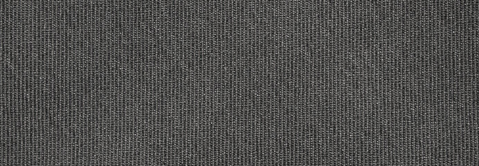 Fotorolgordijn Stof The fabric texture is fluted grey.The background of dense dark-gray patterned fabric.