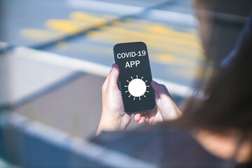 using covid-19 application on smartphone