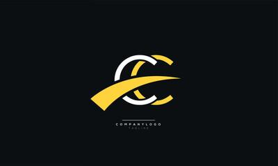 CC Letter Business Logo Design Alphabet Icon Vector Symbol