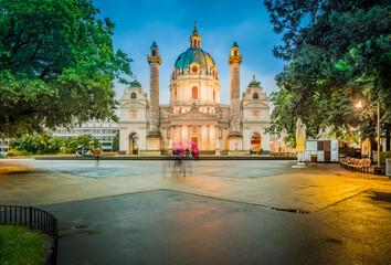 Saint Charles Church in Vienna, Austria.