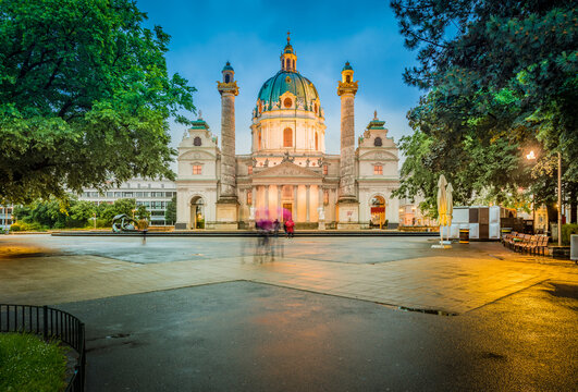 Saint Charles Church in Vienna, Austria.