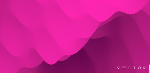 Wall Mural - Abstract background with dynamic effect. Creative design with vibrant gradients. 3D vector Illustration.