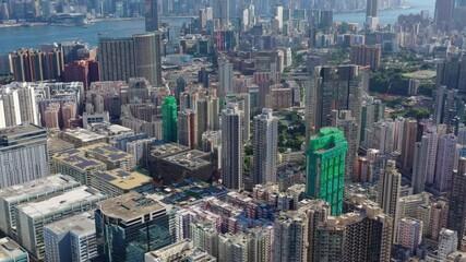 Wall Mural - Aerial view of Hong Kong