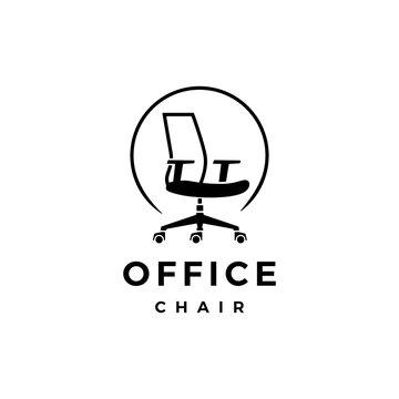 office chair logo vector icon illustration