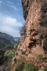 Monastery of Our Lady of Hawqa, nowdays a hermitage in Kadisha Valley also spelled as Qadisha in Lebanon