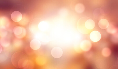 Wall Mural - Abstract background with bokeh lights