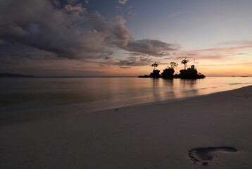Scenic dusk at Willy's Rock. Boracay. Western Visayas. Philippines