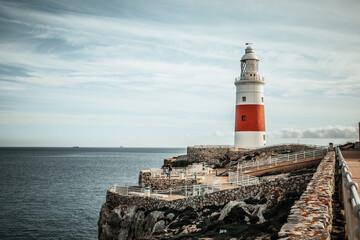 lighthouse on the coast of Gibraltar