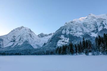 Bergleintal view in winter