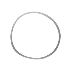 Hand Drawn Circle Shape - Silver Circle Line Element