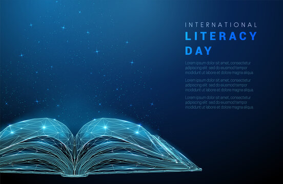 Abstract open book. International literacy day concept.