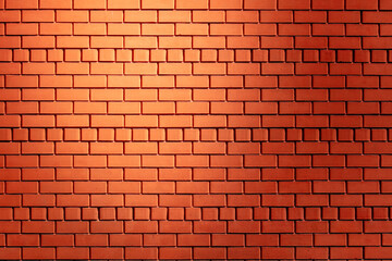 Red brick wall as an abstract background.