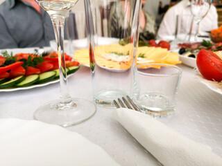 Cutlery on the festive table