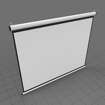 Hanging projection screen