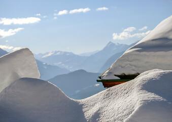 Tyrol deep winter view