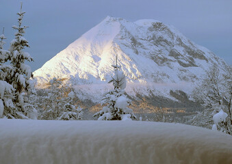 Deep winter mountain