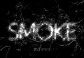 Realistic Smoke Text Effect Mockup