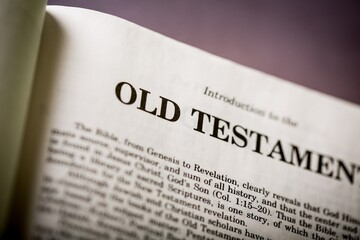 Closeup of Old Testament Bible Page
