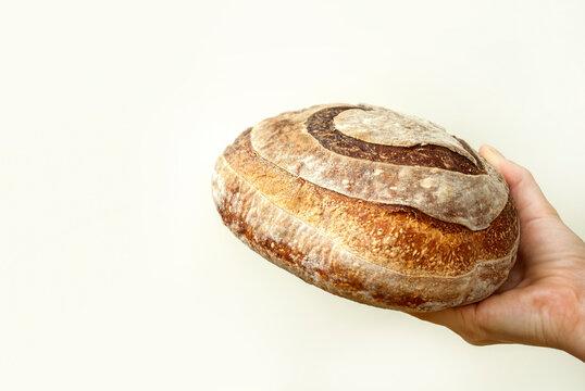 Hand holding bread