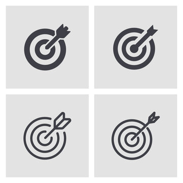 Vector line target icon set eps 10