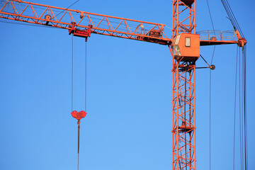 Construction Crane Against Blue Sky