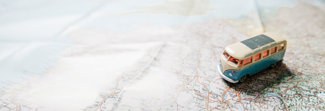 Travelling by car concept. Website header or banner