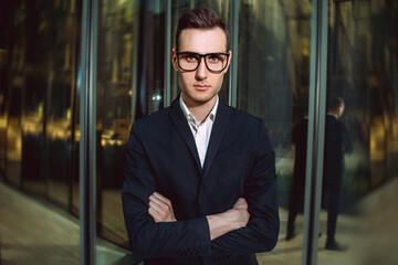 business guy in glasses
