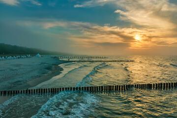 Sonnenuntergang über der Ostsee in Zingst