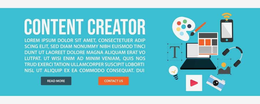Content creator web banner template