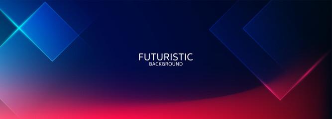Foto auf Leinwand Dinosaurier Abstract blue geometric shape futuristic background