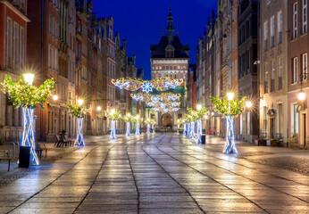 Gdansk. Long market for christmas.
