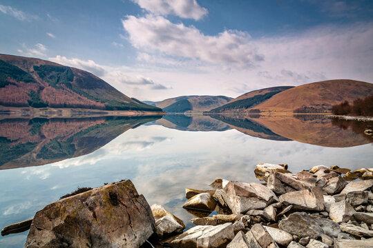 St Mary's Loch Reflections, near Moffat, Scotland