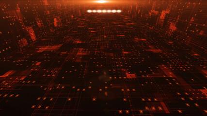 Sci-fi Futuristic Space Corridor