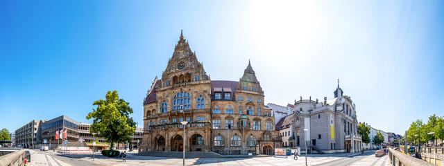 Obraz Rathaus, Bielefeld, Deutschland  - fototapety do salonu