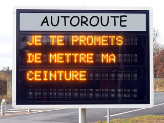 message of caution on French highways following the death of a famous rock and roll singer