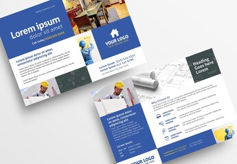 Handyman Construction Service Flyer Layout