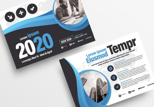 Blue Business Flyer with Light Gradient