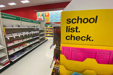 Back to school suppiles for sale in U.S. department stores