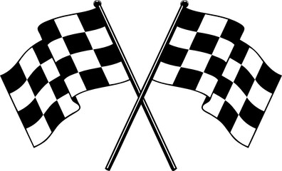 Foto op Plexiglas F1 racing NASCAR Race flag checkered flag svg vector cut file for cricut and silhouette