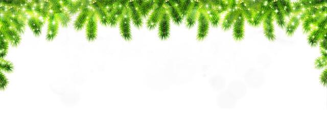 Fototapeta クリスマス モミの木 冬 背景