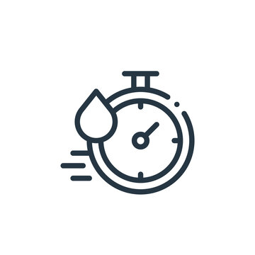 quick dry icon vector from fabric features concept. Thin line illustration of quick dry editable stroke. quick dry linear sign for use on web and mobile apps, logo, print media.