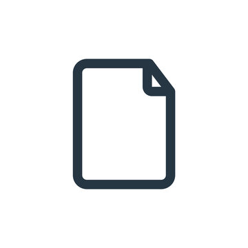 blank page icon vector from user interface concept. Thin line illustration of blank page editable stroke. blank page linear sign for use on web and mobile apps, logo, print media.