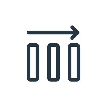 average icon vector from business concept. Thin line illustration of average editable stroke. average linear sign for use on web and mobile apps, logo, print media.
