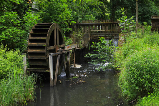 "The Bremsdorf mill on the hiking trail ""Schlaubetal"", federal state Brandenburg, Germany"