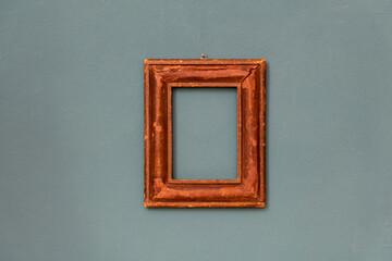 Small moulded rectangular vintage wooden frame