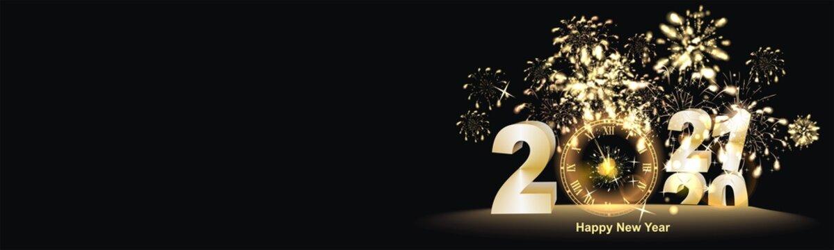 Hintergrund mit Feuerwerk zum Jahreswechsel 2021