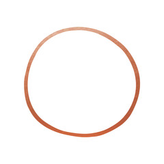 Hand Drawn Circle Shape - Copper Circle Line Element