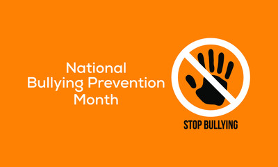 Vector illustration on the theme of National bullying prevention month observed each year during October.